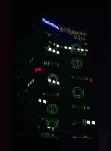 Laseractie op de Maastoren in Rotterdam groot succes